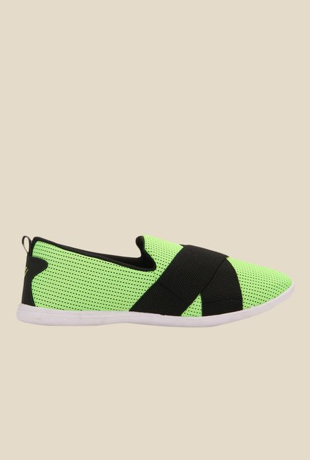 Yepme Green & Black Casual Slip-Ons