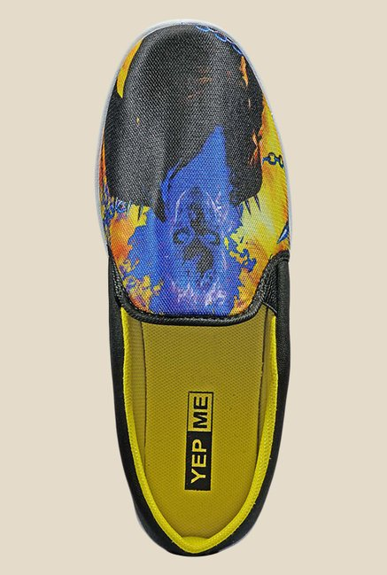Yepme Black & Yellow Casual Slip-Ons