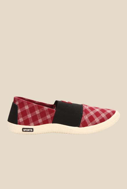 Yepme Red & Black Slip-Ons