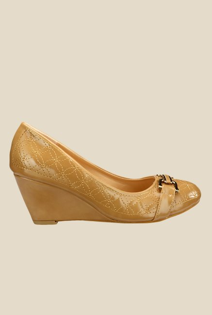 Yepme Beige Wedge Heeled Pumps
