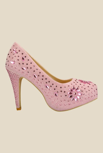 Yepme Light Pink Stiletto Heeled Pumps