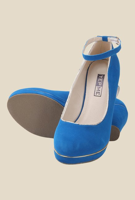 Yepme Blue Ankle Strap Pumps