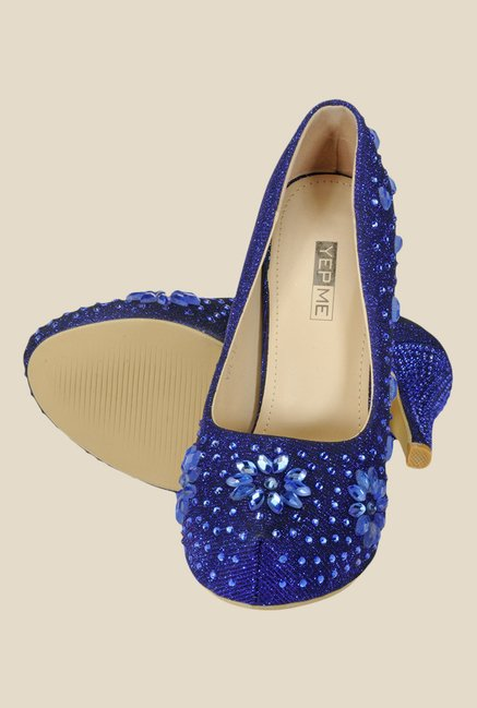 Yepme Blue Stiletto Heeled Pumps