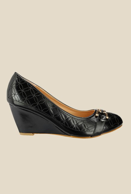 Yepme Black Wedge Heeled Pumps