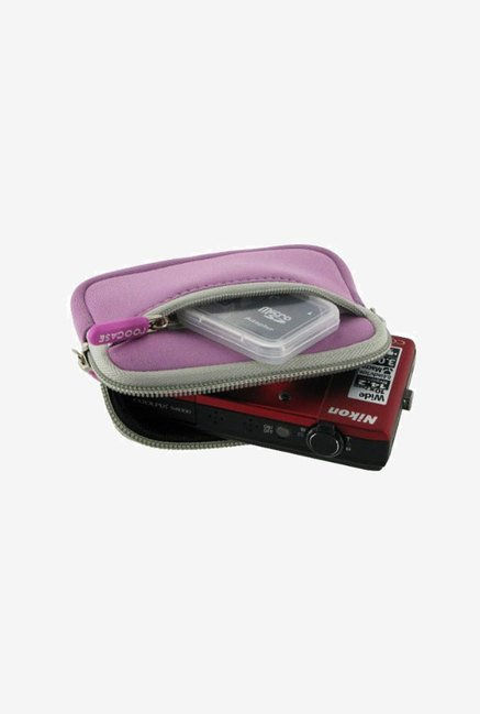 rooCASE Carrying Case for Nikon Coolpix S80 (Pink)
