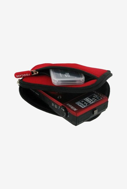 Roocase Neoprene Sleeve Case for Nikon Coolpix S230 (Red)