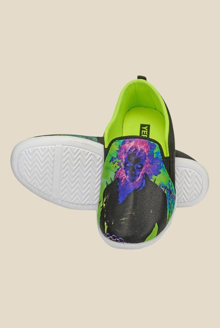 Yepme Black & Green Casual Slip-Ons
