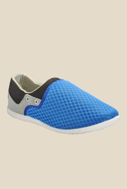 Yepme Blue & Black Slip-Ons