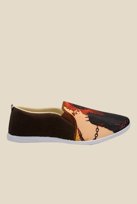 Yepme Brown & Beige Casual Slip-Ons