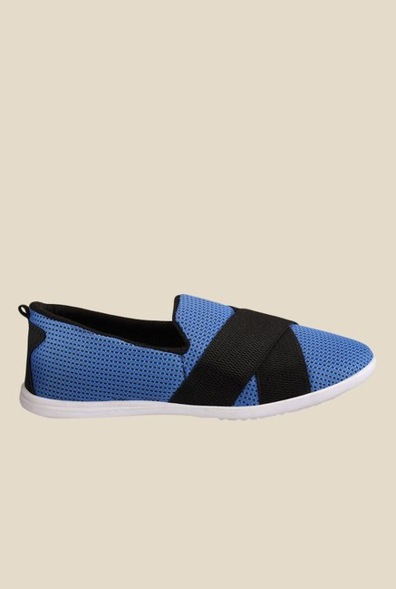 Yepme Blue & Black Casual Slip-Ons