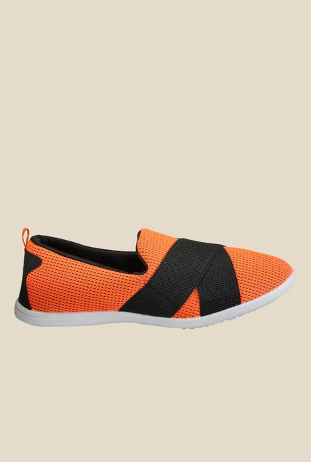 Yepme Orange & Black Casual Slip-Ons