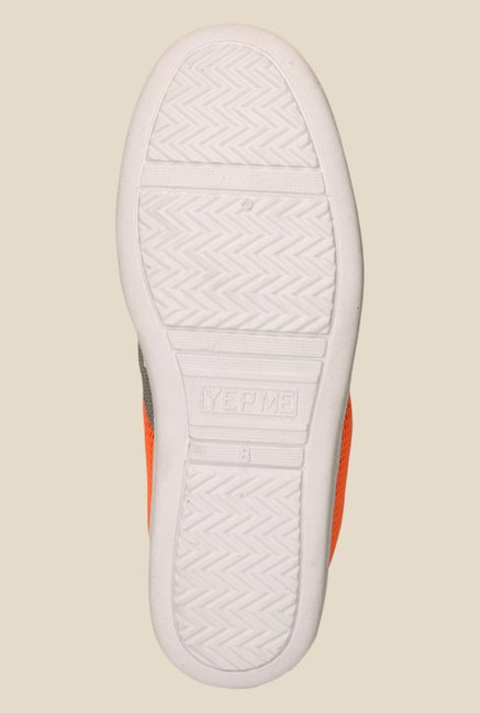 Yepme Orange & Grey Casual Slip-Ons