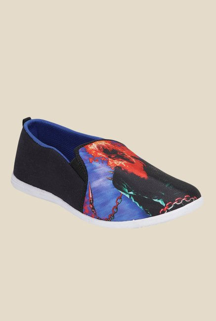 Yepme Black & Blue Casual Slip-Ons