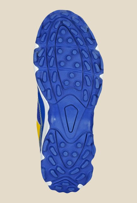 Yepme Spike Blue & Yellow Cricket Shoes