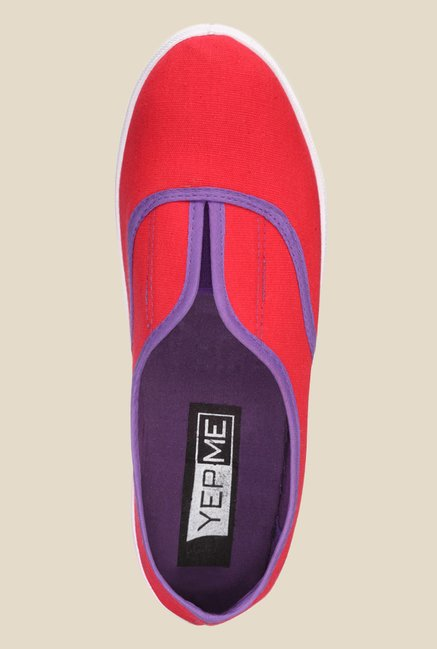 Yepme Red & Purple Plimsolls