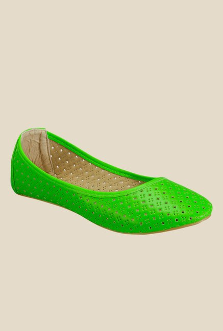 Yepme Green Flat Ballets