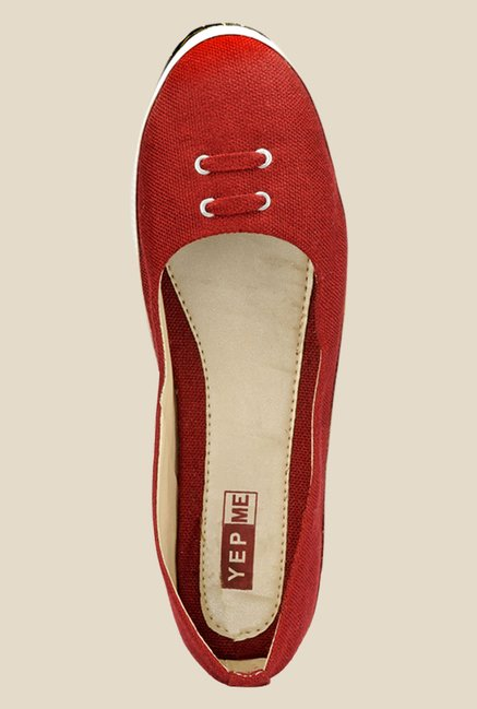Yepme Red & White Flat Ballets
