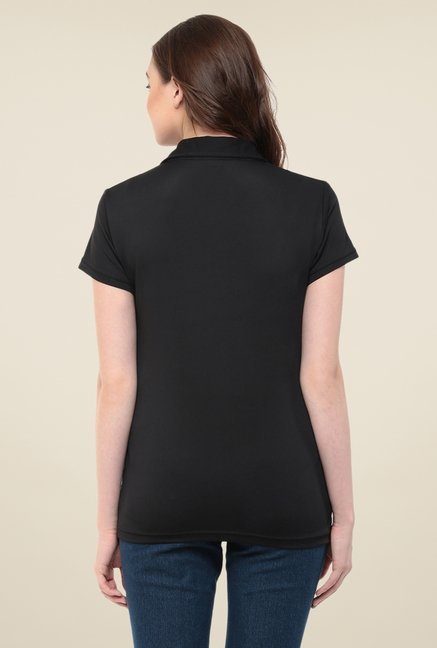 Yepme Perry Black Polo T Shirt