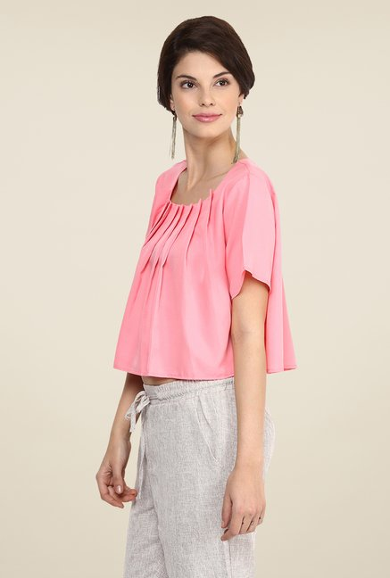 Yepme Pink Samie Crop Top