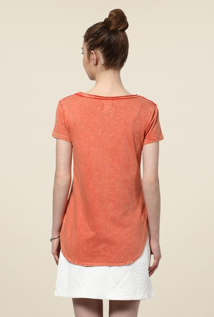 Yepme Orange Celia Acid Wash Premium Top