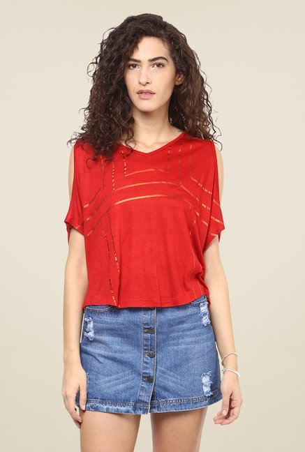 Yepme Red Maisie Party Top
