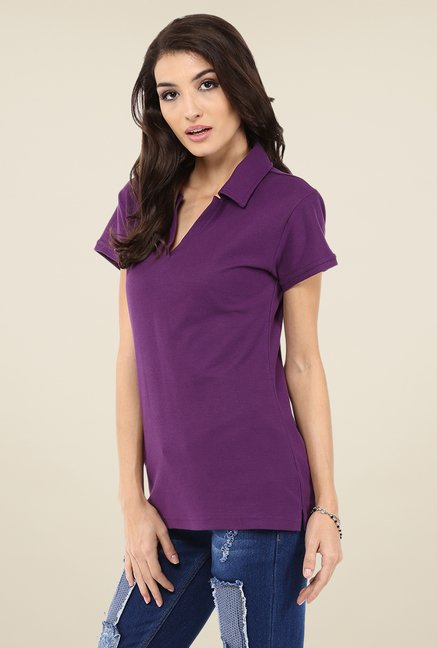 Yepme Perry Purple Polo T Shirt