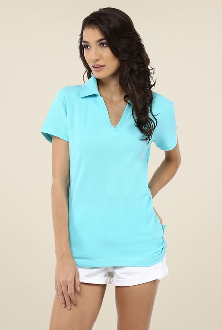 Yepme Perry turquoise Polo T Shirt