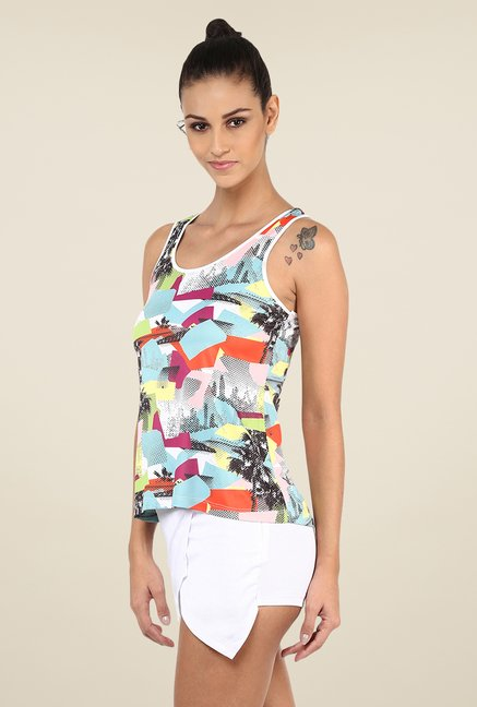 Yepme Multicolored Birdie Multi Patch Tank Top