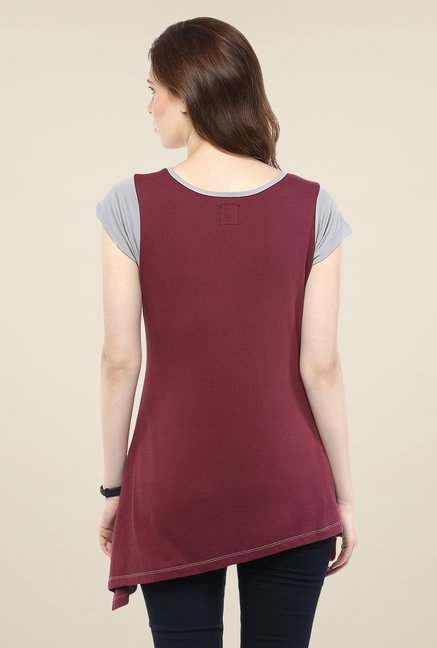 Yepme Grey Doria Asymmetrical Top