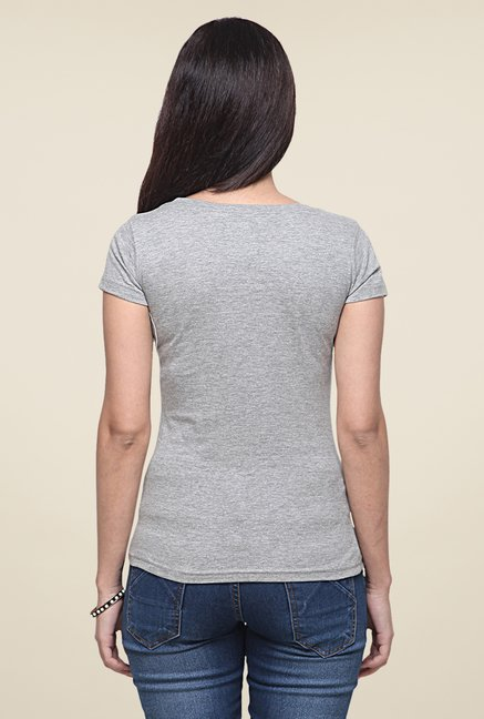 Yepme Intelligence Grey T Shirt