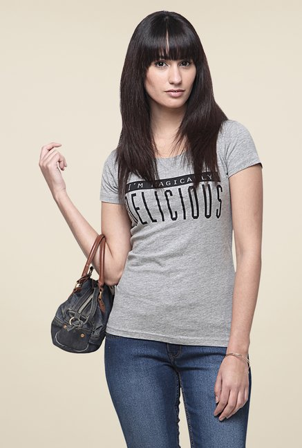 Yepme Delicious Grey T Shirt