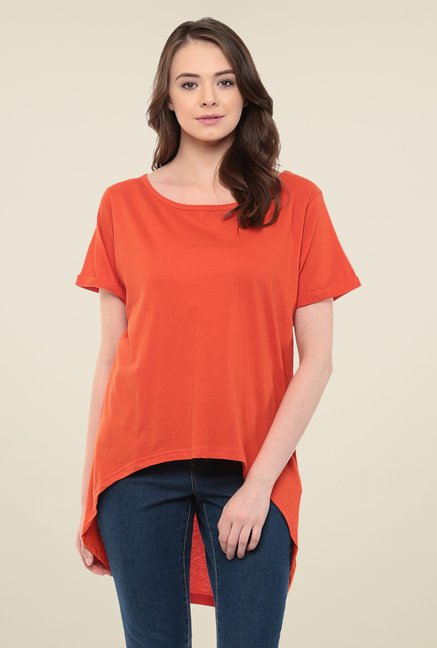 Yepme Orange Lorine Asymmetrical Top