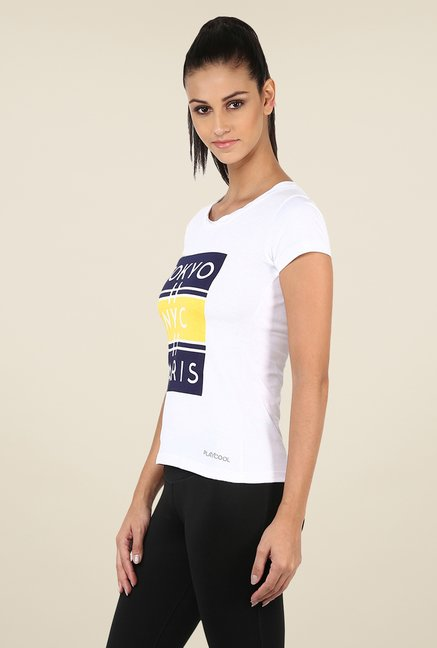 Yepme Darlene High Performance White T Shirt