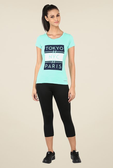 Yepme Darlene High Performance Turquoise T Shirt