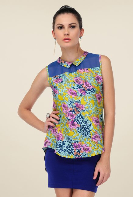 Yepme Multicolored Remie Floral Print Top