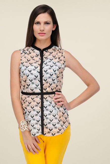 Yepme White Izzie Printed Top