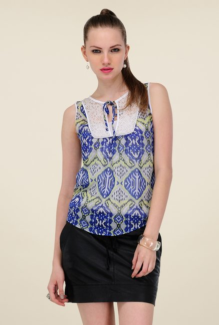 Yepme Blue Krina Lace Top