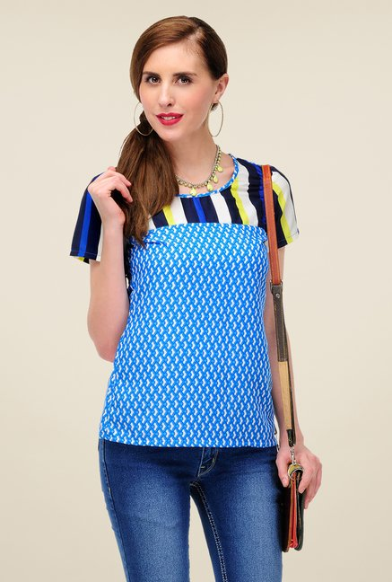 Yepme Blue Shawna Printed Top