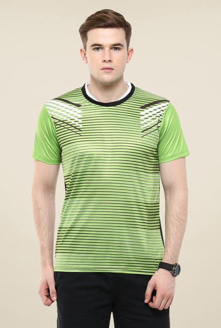 Yepme Green Barry Striped T-shirt