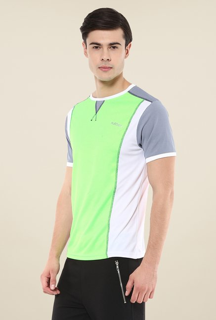 Yepme Green Hubert Active Solid T-shirt