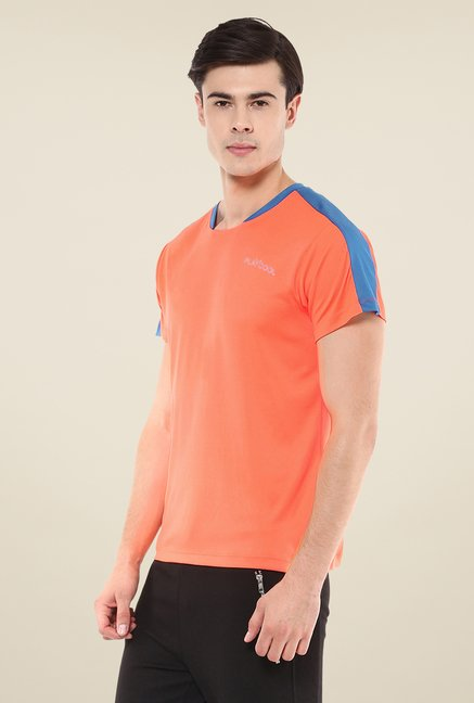 Yepme Orange Merlin High Performance Solid T-shirt