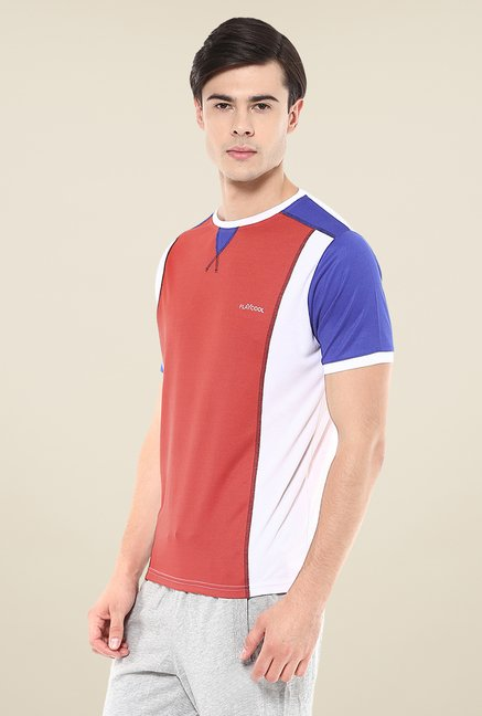 Yepme Red Hubert Active Solid T-shirt