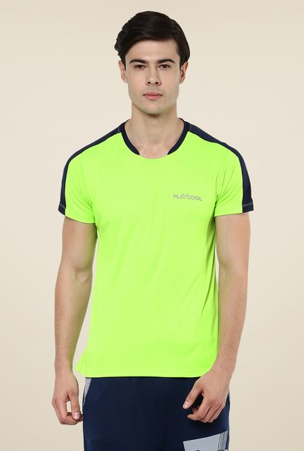 Yepme Lime Merlin High Performance Active Solid T-shirt