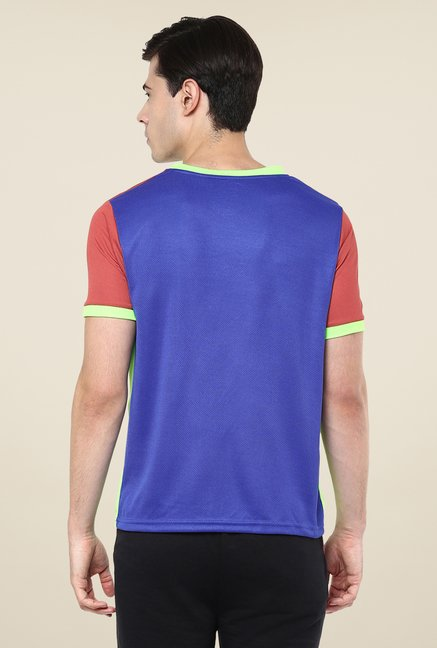 Yepme Blue Davies Active Solid T-shirt