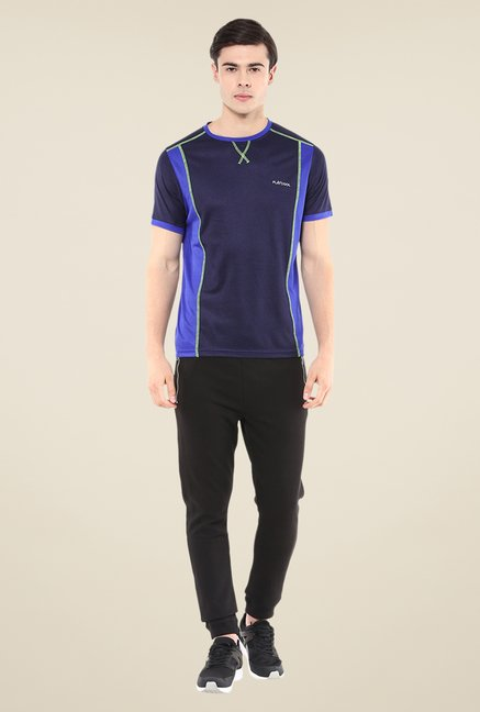 Yepme Navy Hubert Active Solid T-shirt