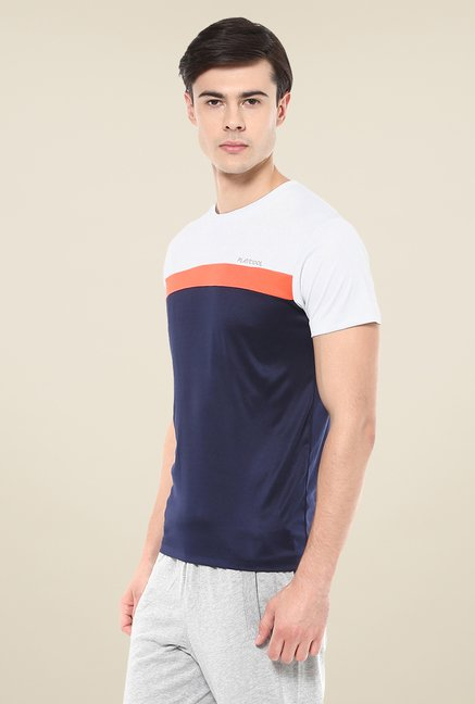Yepme Navy Cyril High Performance Active Solid T-shirt