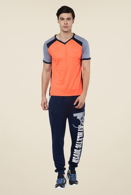 Yepme Orange Davies Dry Fit Solid T-shirt