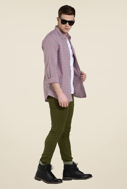 Yepme Red Andrew Premium Check Shirt