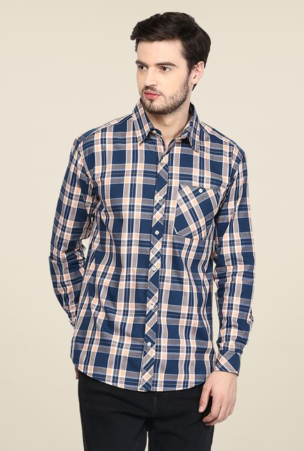 Yepme Blue Warner Premium Check Shirt
