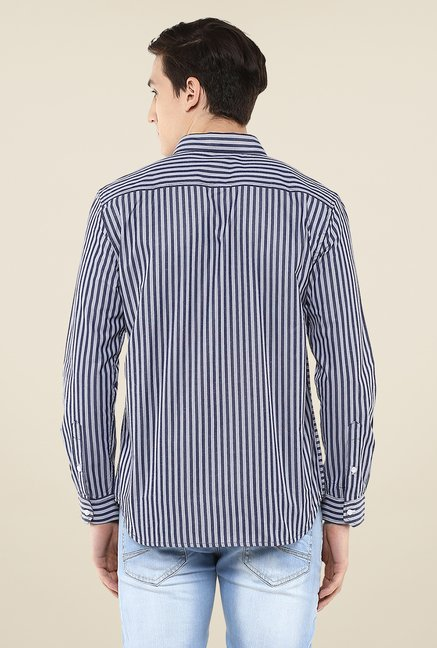 Yepme Navy Stefan Striped Shirt
